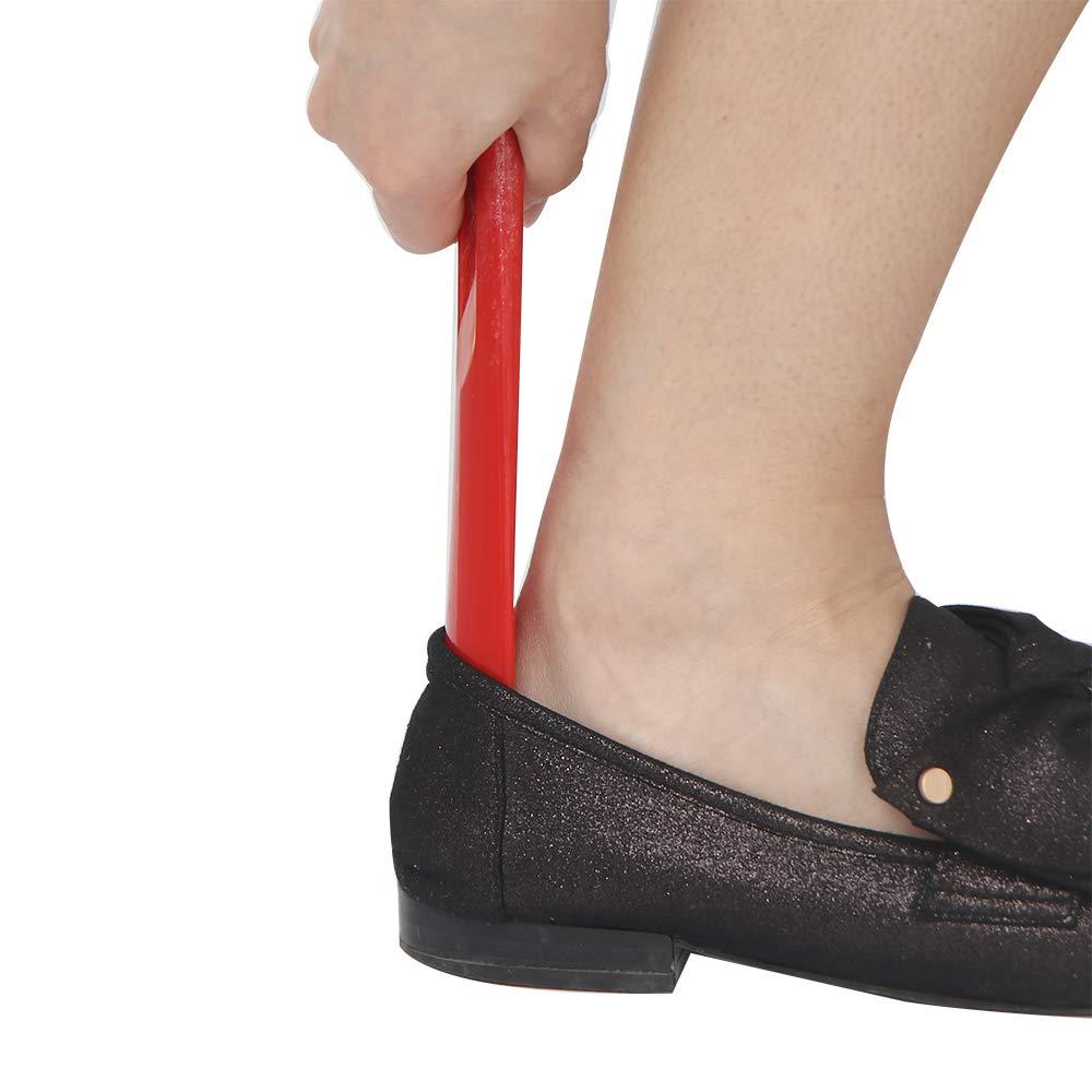 Wilk Durevole Maniglia Calzature Accessori Lunga Plastica Calzascarpe Facile da Usare Calzascarpe Facile Robusto Slittamento Scarpe Helper