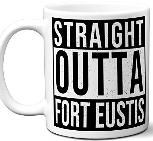 Military Gifts For Men, Women. Straight Outta Coffee Mug. Fort Eustis Joint Base Langley-Eustis. Soldier Service Member Army Navy Air Force Marines Deployment Retirement Promotion Veteran Mom - Air Base Force Langley