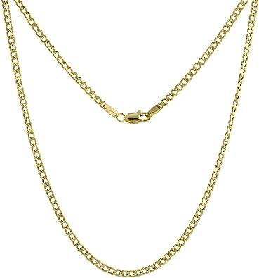 environ 60.96 cm 2.5 mm 2.6 g 10K Hollow Gold Cuban Chaîne 24 in