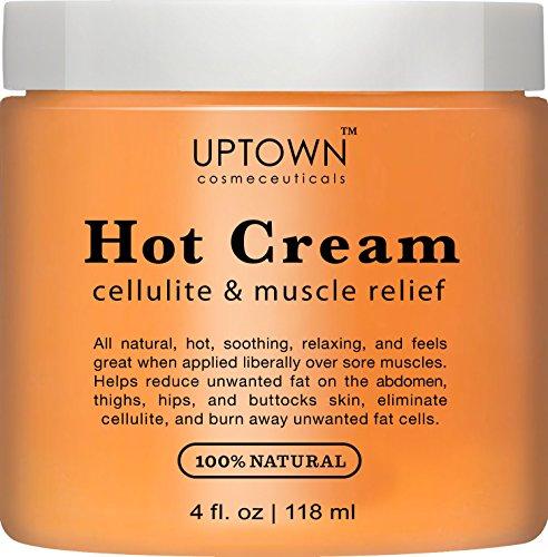 Uptown cosméceutiques chaud Anti Cellulite crème 4 fl. oz - traitement anti-cellulite naturel 100 %, favorise une peau souple & tonique, Relaxant musculaire & douleur soulagement crème