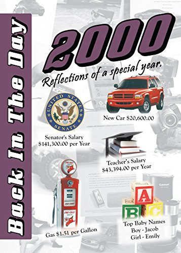2000 Back In The Day - 24-page Greeting Card / Booklet with Envelope