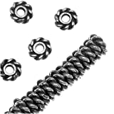 Fine Silver Plated Lead-Free Pewter Twist Edge Spacer Beads 4mm (50)