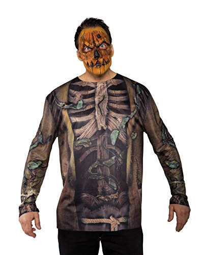 [Scarecrow Mask Adult Male Halloween Costume Accessories - One Size] (Male Scarecrow Costume)