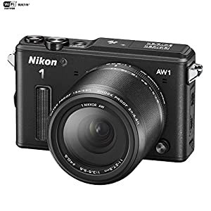Nikon AW1 Waterproof Shockproof Digital Camera (27665B) Black + AW 11-27.5mm - (Certified Refurbish)
