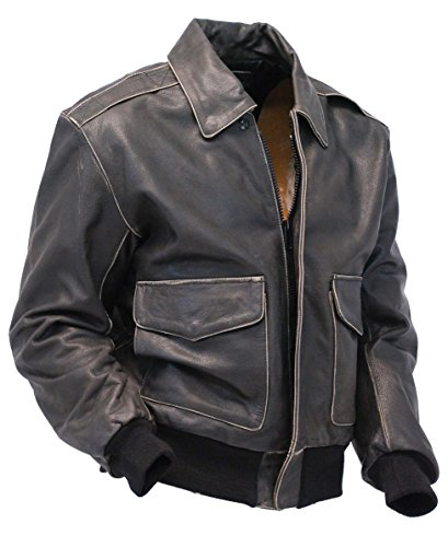 Jamin' Leather Vintage Brown Leather A2 Bomber Jacket (3XL) #MA2DN (A2 Leather Flight Jacket)