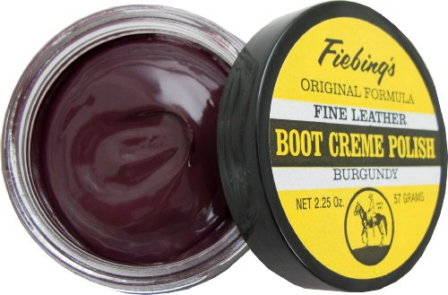 Fiebings Boot Cream, - Burgundy Leather Shoe Polish