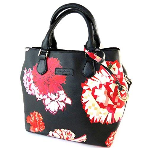 Bolsa de diseñador 'Christian Lacroix'rojo negro - 32x26x15 cm.