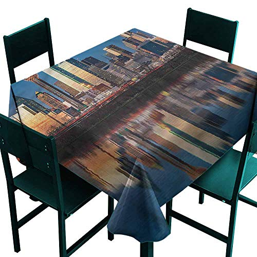 DONEECKL Dust-Proof Tablecloth USA Trinity River High Rise Centre Excellent Durability W60 xL60