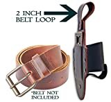 Premium Leather Beer Holster - Fits Standard Beer Cans and Bottles - By ValhallaVineyards