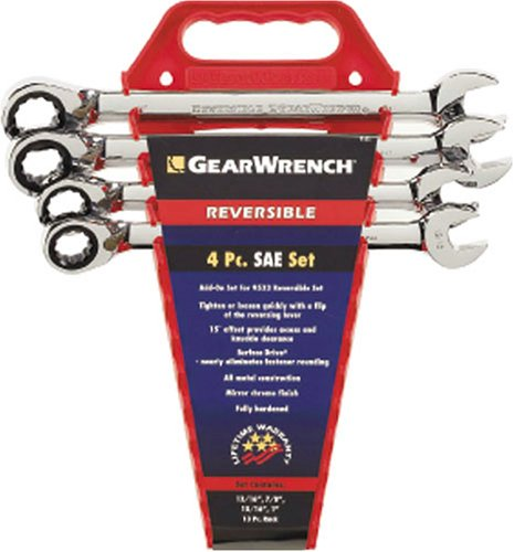 GEARWRENCH 9545 4 Piece SAE Reversible Ratcheting Wrench Completer Set ()