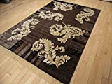 Silk Brown Ice Area Rugs 5x8 Modern Rug Dining Room Rugs Brown Black Cream Gold Modern Rugs Area Rugs 5x7 Clearance Under 100