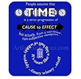 Doctor Who Mousepad, Timey Wimey Wibbly Wobbly Quote Mouse pad