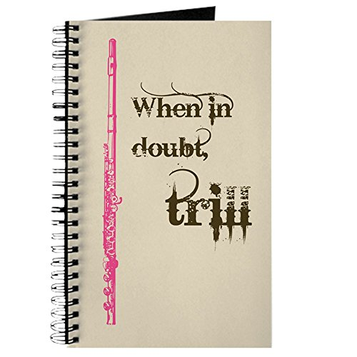 (CafePress Flute Trill Spiral Bound Journal Notebook, Personal Diary, Lined )