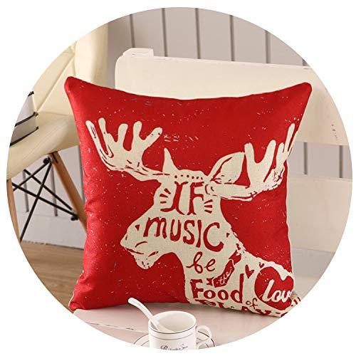 Wild-lOVE 45x45cm Halloween Christmas Cushion Cover Throw Pillows Case Cotton Linen Tree New Year Decorative Pillows,24
