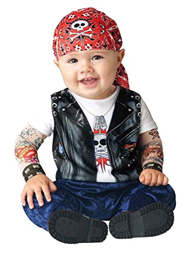 [Born To Be Wild Costume - Infant Medium] (Biker Kid Costume)