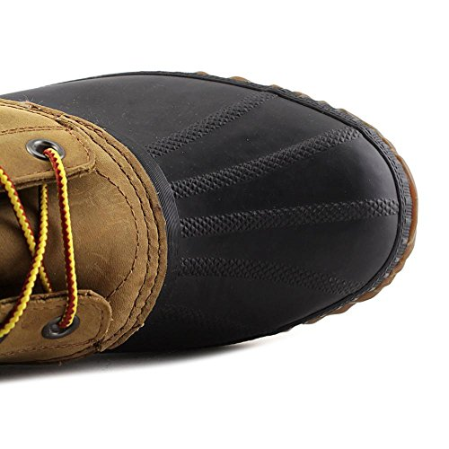 SOREL Cheyenne Lace Men Round Toe Leather Brown Rain Boot Chipmunk/Black Dl8Sq3hK