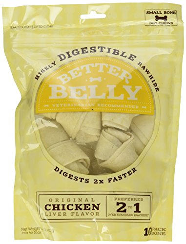 Better Belly Chicken Liver Rawhide Small Dog Bones, (Liver Rawhide)