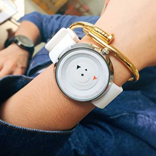 UPC 727670762570, Drhob Men and women Luxury Stainless Steel Analog Quartz Sport Wrist Watch(color: white)