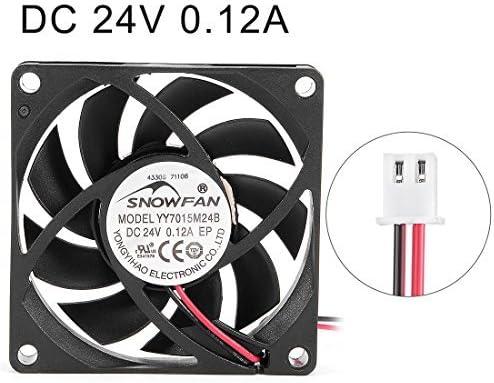 NA 70mm x 70mm x 15mm 24V DC Cooling Fan PC case Fan with Long-Lasting Ball Bearing