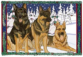 German Shepherd Christmas Cards Set of 10 cards /& 10 envelopes