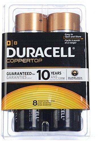 Coleman 8d Led Quad Lantern (4 Lights In One)+duracell Coppertop D Batteries 8 Count