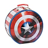 Vandor 26970 Marvel Shield Shaped Tin Tote, Multicolored