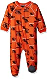 NCAA Oregon State Beavers Infant Boys Sleepwear All Over Print Zip Up Coveralls, 24 Months, Orange