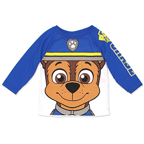 [Paw Patrol Marshall Chase Costume Style Boys and Girls Tee Shirt (4T, Chase LS)] (Paw Patrol Chase Toddler Costumes)