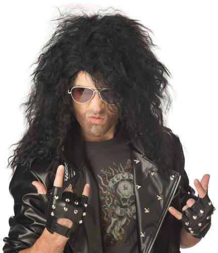 [California Costumes Men's Heavy Metal Rocker Wig,Black,One Size] (80s Metal Costumes)