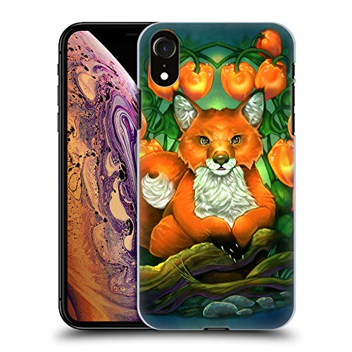- Official Renee Biertempfel Fox Animals Hard Back Case Compatible for iPhone XR