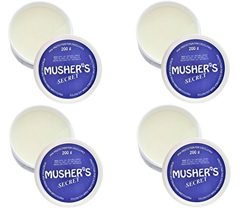 Invisible Dog Boots Wax-Based Cream Mushers Secret 200 Gram 4 Pack Bundle by Musher's Secret
