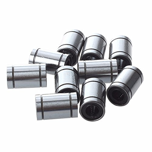 GINZU 10 Pcs Ball Bushing Linear Motion 8mm x 15mm x 24mm Double Sealed (Linear Motion Sealed Bushing)