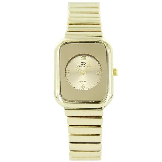 Reloj Mujer Acero Dorado Efecto Espejo Giorgio  Amazon.es  Relojes 81684c284610