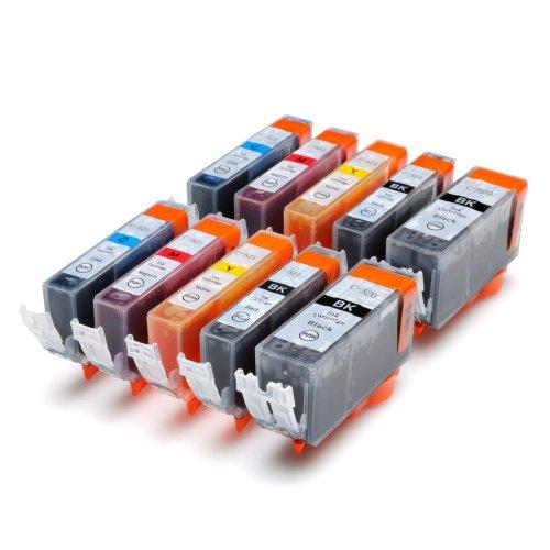 10 Druckerpatronen mit CHIP Canon Pixma ip3600 ip4600 MP540 MP620 MP630 MP980 MP 540 620 630 980 ip 3600 4600