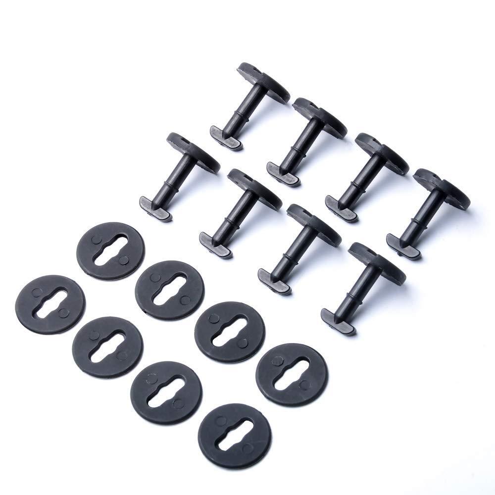 8 pezzi Tappetini per //Clip di fissaggio Nero