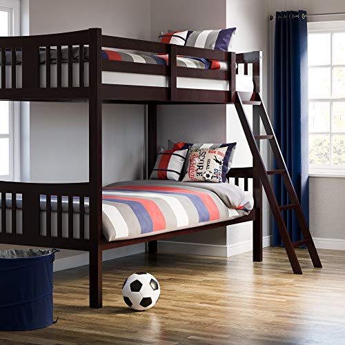 picture of Storkcraft Caribou Solid Hardwood Twin Bunk Bed, Espresso Twin Bunk
