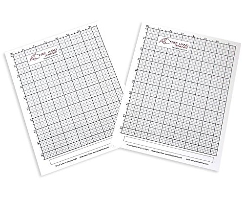 2 x Grid Type Lettersize 'Freehand Designer' Sheets. Draw Perfect Straight Lines Templates. Grid Type Sheets for Scale Drawings