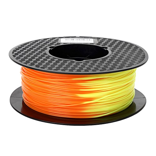 Color Changing Filament Orange to Yellow PLA Filament 1.75mm Color Change with Temperature 3D Printer Filament 1.75mm 1KG 2.2LBS Pen Filament 3D Printing Material