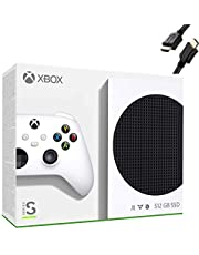 Microsoft Xbox Series S 512GB Game All-Digital Console + 1 Xbox Wireless Controller, White - 1440p Gaming Resolution, 4K Streaming Media Playback, WiFi - iPuzzle HDMI Cable (Value $69)