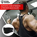 Steel-Sweat-Weight-Lifting-Belt-Nylon-6-inch-firm-comfortable-back-support-best-for-workouts-at-the-gym-weightlifting-or-CrossFit-Easily-adjustable