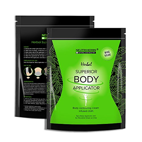 - Neutriherbs 45 Min Ultimate Body Wraps Applicator (5} Plus Bonus Slimming Shape Up Wrap Strap, Weight Loss,Tones Tightens and Firms
