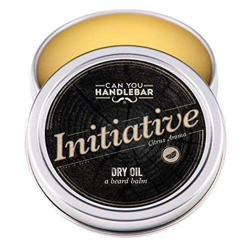 Initiative – Citrus Bergamot Lavender Aroma – Premium Beard Balm For Men | Dry Oil Beard Conditioner | 2 Oz Stainless Steel Tin