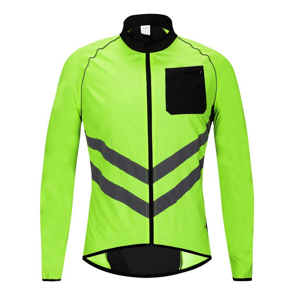 LUHHH Radfahren Fahrrad-Jacken-Mantel-einen.Kreislauf.durchmachenfahrrad Jersey Kleidung windundurchlässiges Reflective Quick Dry Coat