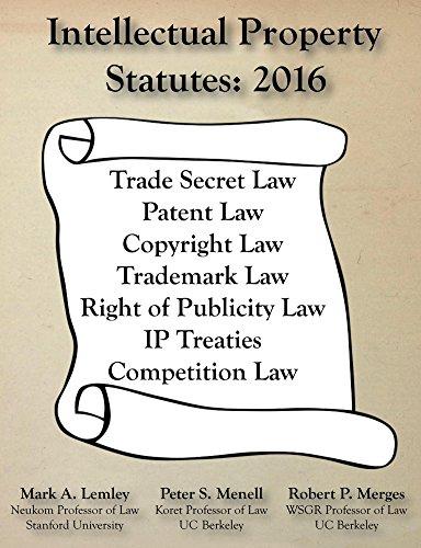(Intellectual Property Statutes: 2016)