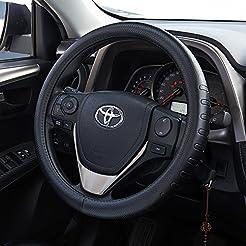 FMS Genuine Leather Car Steering Wheel C...