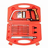 Marketworldcup-Hand Tools 11 in 1 Magic Saw Multifunction Hand DIY Saw Wood Glass Saw Cutting Metal Wood Glass Plastic Rubber 9 Blades