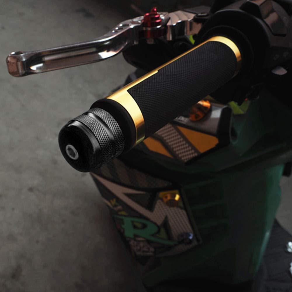Lecimo 1pair 7//8 Motorcycle Anti Vibration Handle Bar End Plug Grip Ends Caps 22mm,3#