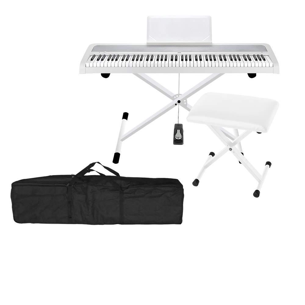 【期間限定!最安値挑戦】 KORG KORG B1 WH WH XスタンドXイスケースセット B1 電子ピアノ 88鍵盤 コルグB07G5TLGJD, 大井川町:9824d9de --- a0267596.xsph.ru