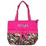 Personalized Boys and Girls Infants Quilted Diaper Tote Bags | Customize on Order (Camo Pink)