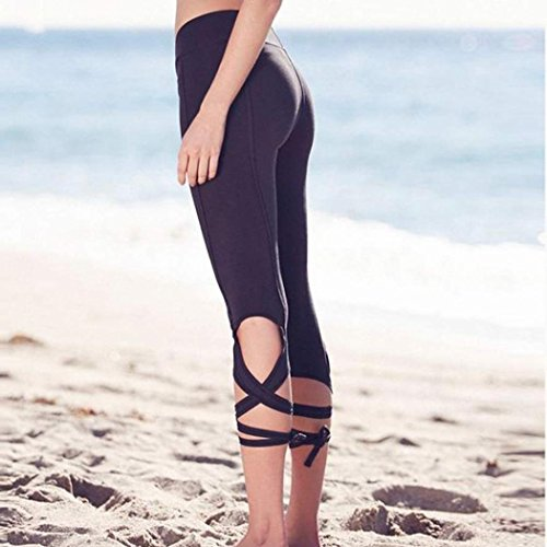 cb66d69594aeb Yoga Pants;ABCsell Women Sports Gym Yoga Workout Cropped Leggings Fitness  Lounge Athletic Pants low